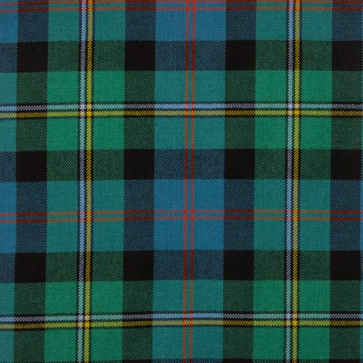 Malcolm Ancient Medium Weight Tartan Fabric-Front