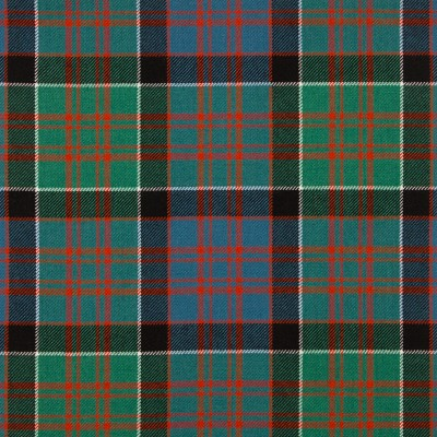 MacDonald of Clanranald Ancient Medium Weight Tartan Fabric-Front