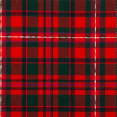MacKinnon Red Modern Medium Weight Tartan Fabric-Front