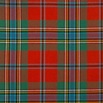 MacLean of Duart Ancient Medium Weight Tartan Fabric-Front