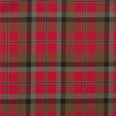 MacNaughton Weathered Medium Weight Tartan Fabric-Front
