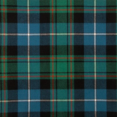 MacRae Hunting Ancient Medium Weight Tartan Fabric-Front