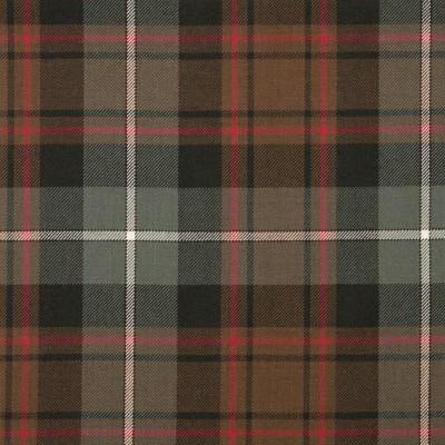 MacRae Hunting Weathered Medium Weight Tartan Fabric-Front