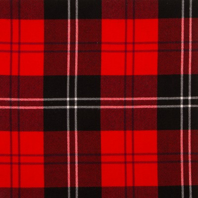 Ramsay Red Modern Medium Weight Tartan Fabric-Front