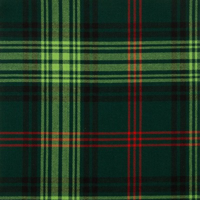 Ross Hunting Modern Medium Weight Tartan Fabric-Front