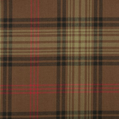 Ross Hunting Weathered Medium Weight Tartan Fabric-Front