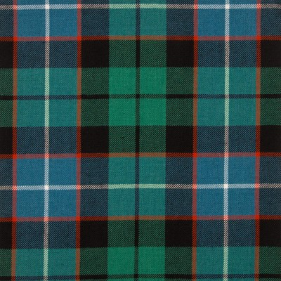 Russell Ancient Medium Weight Tartan Fabric-Front