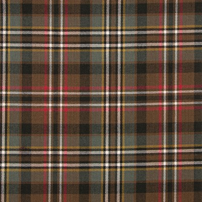 Scott Green Weathered Medium Weight Tartan Fabric-Front