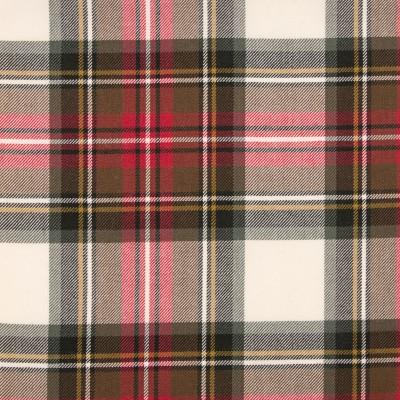 Stewart Dress Weathered Medium Weight Tartan Fabric-Front