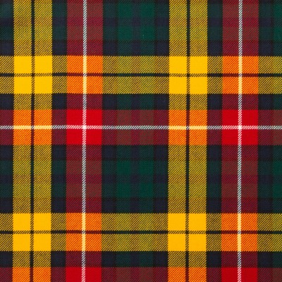 Buchanan Modern Light Weight Tartan Fabric-Front