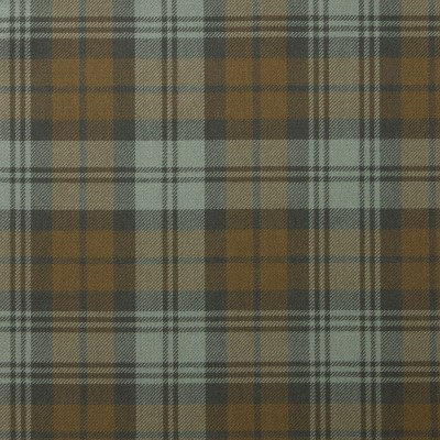 Black Watch Weathered Light Weight Tartan Fabric-Front