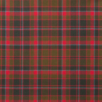 Buchan Weathered Light Weight Tartan Fabric-Front