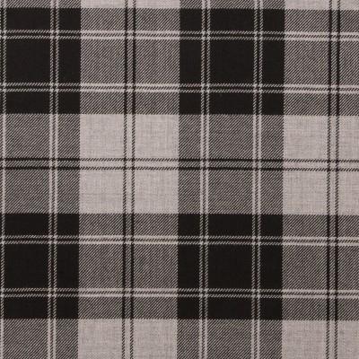 Douglas Grey Light Weight Tartan Fabric-Front