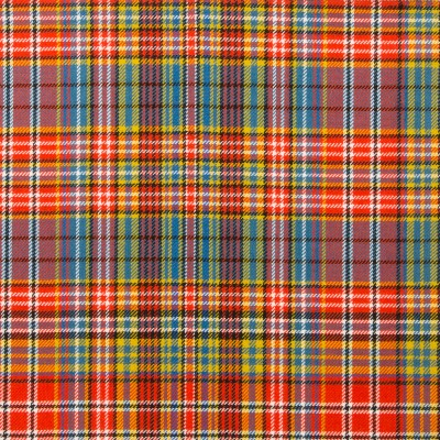 Drummond of Strathallan Ancient Light Weight Tartan Fabric-Front