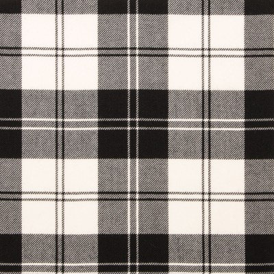 Erskine Black & White Light Weight Tartan Fabric-Front