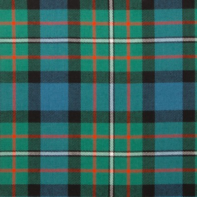 Ferguson Ancient Light Weight Tartan Fabric-Front