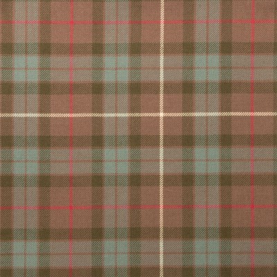 Fraser Hunting Weathered Light Weight Tartan Fabric-Front