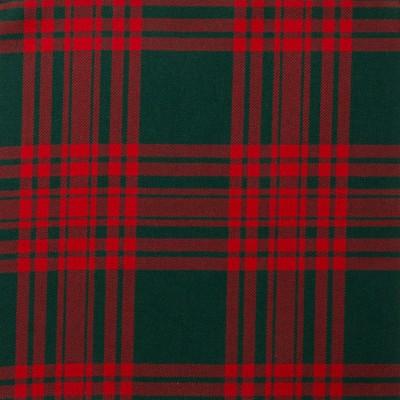 Menzies Green Modern Light Weight Tartan Fabric-Front