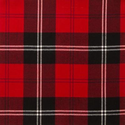 Ramsay Red Modern Light Weight Tartan Fabric-Front
