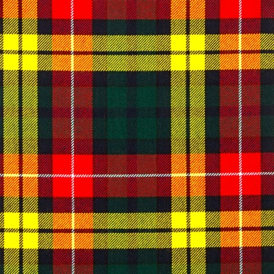 Buchanan Modern Heavy Weight Tartan Fabric-Front