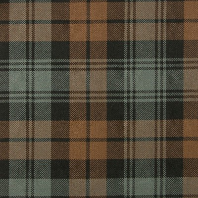 Black Watch Weathered Heavy Weight Tartan Fabric-Front