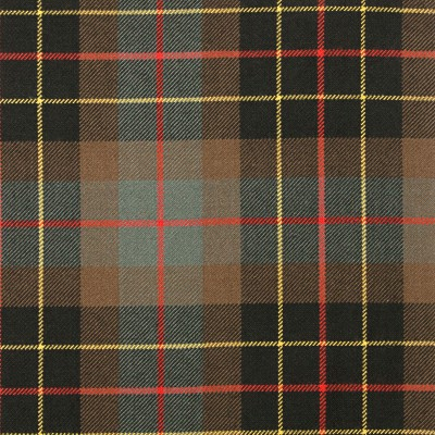 Brodie Hunting Weathered Heavy Weight Tartan Fabric-Front