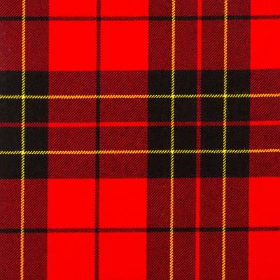 Brodie Red Modern Heavy Weight Tartan Fabric-Front