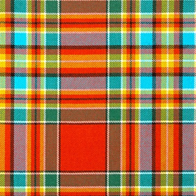 Chattan Ancient Heavy Weight Tartan Fabric-Front