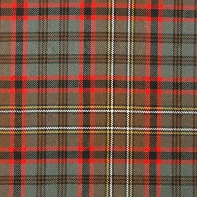 Cunningham Hunting Weathered Heavy Weight Tartan Fabric-Front
