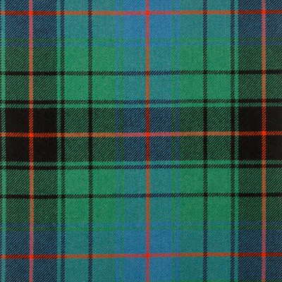 Davidson Clan Ancient Heavy Weight Tartan Fabric-Front