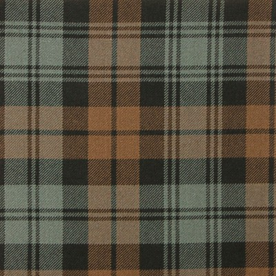 Grant Hunting Weathered Heavy Weight Tartan Fabric-Front