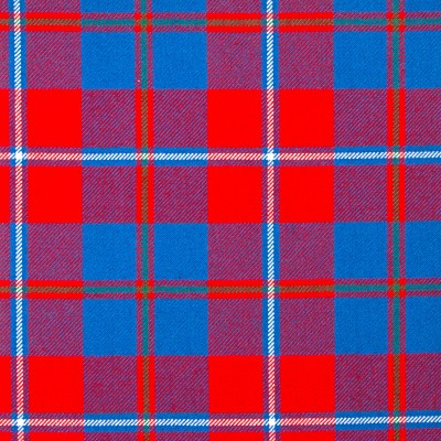Galloway Red Modern Heavy Weight Tartan Fabric-Front