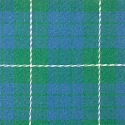 Hamilton Green Ancient Heavy Weight Tartan Fabric-Front