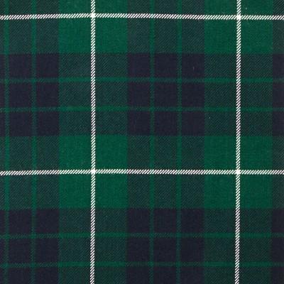 Hamilton Green Modern Heavy Weight Tartan Fabric-Front