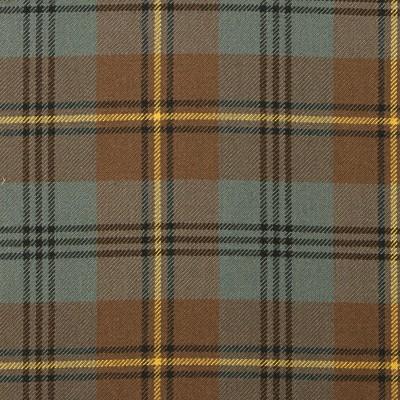 Johnstone Weathered Heavy Weight Tartan Fabric-Front