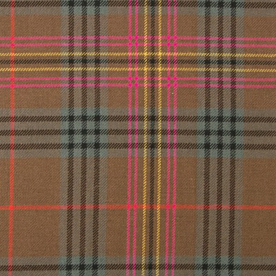 Kennedy Weathered Heavy Weight Tartan Fabric-Front