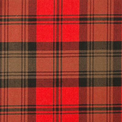 Kerr Weathered Heavy Weight Tartan Fabric-Front