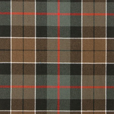 Leslie Green Weathered Heavy Weight Tartan Fabric-Front