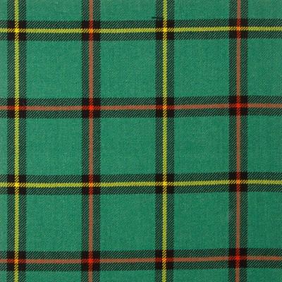 Marr Green Ancient Heavy Weight Tartan Fabric-Front