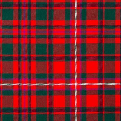 MacKinnon Red Modern Heavy Weight Tartan Fabric-Front