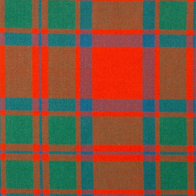 MacIntosh Clan Ancient Heavy Weight Tartan Fabric-Front