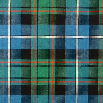 MacRae Hunting Ancient Heavy Weight Tartan Fabric-Front