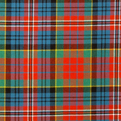 MacPherson Clan Ancient Heavy Weight Tartan Fabric-Front