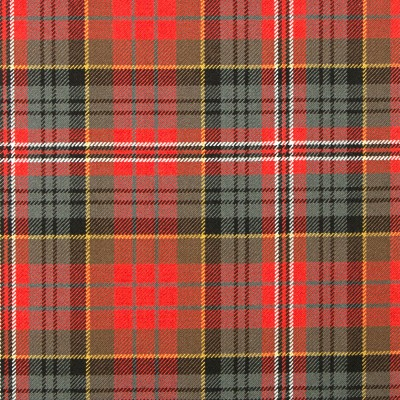 MacPherson Clan Weathered Heavy Weight Tartan Fabric-Front