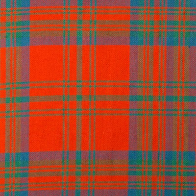 Matheson Red Ancient Heavy Weight Tartan Fabric-Front