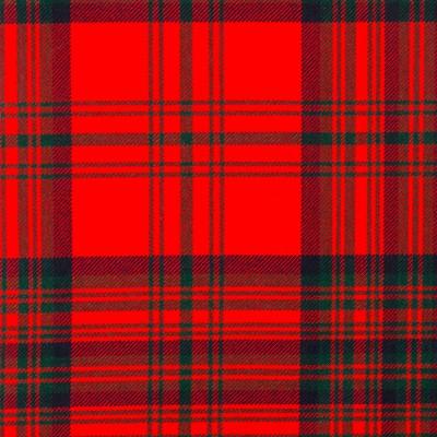 Matheson Red Modern Heavy Weight Tartan Fabric-Front