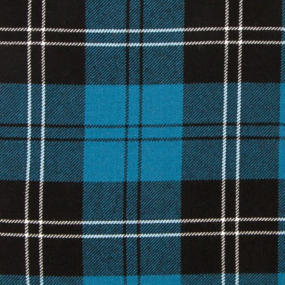 Ramsay Blue Ancient Heavy Weight Tartan Fabric-Front