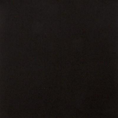 Black Plain Coloured Modern Heavy Weight Tartan Fabric-Front