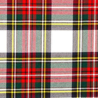 Stewart Dress Modern Heavy Weight Tartan Fabric-Front