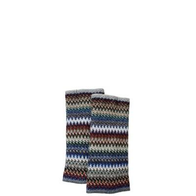 Cappuccino Faith Wool/Angora Knitted Fingerless Gloves